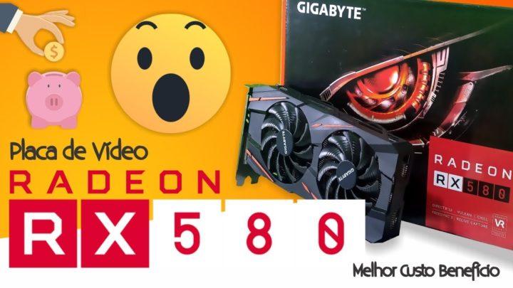 Placa de Vídeo com Melhor Custo Benefício AMD RX 580 Unboxing