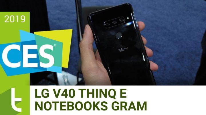 CES 2019: V40 ThinQ e os novos notebooks Gram da LG