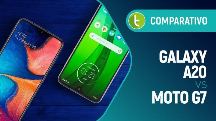 Galaxy A20 vs Moto G7: ter mais vantagens nem sempre significa ser melhor | Comparativo