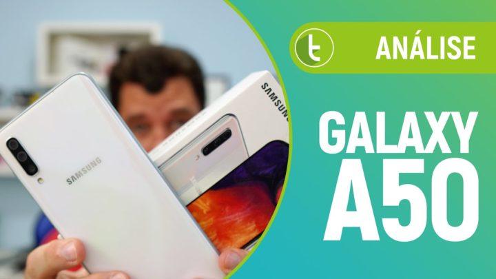 Galaxy A50 disfarça pontos negativos com notch e biometria na tela | Análise / Review