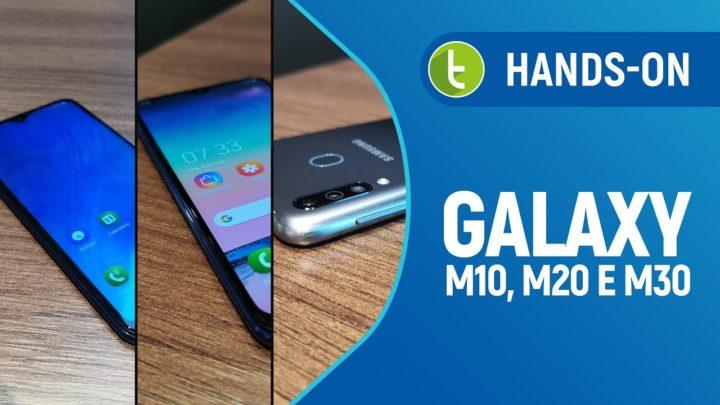 Galaxy M10, M20 e M30 engrossam lista de opções da Samsung no Brasil | Hands-on TudoCelular