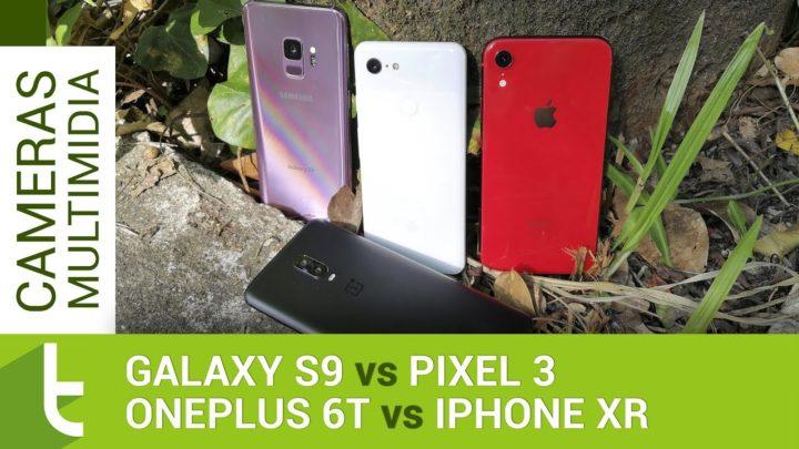 Pixel 3 e iPhone XR superam com folga OnePlus 6T e Galaxy S9 em câmera e multimídia