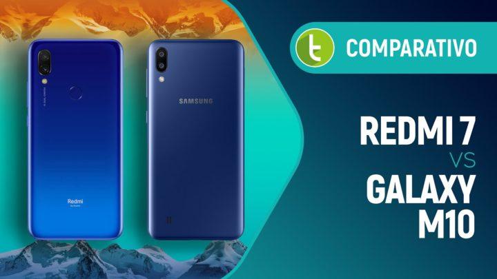 Redmi 7 vs Galaxy M10: Samsung melhor que Xiaomi em custo-benefício? | Comparativo