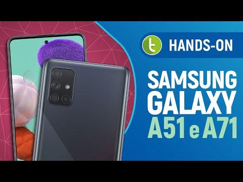 GALAXY A51 e GALAXY A71: o que melhorou do A50 e A70? | Hands-on em vídeo