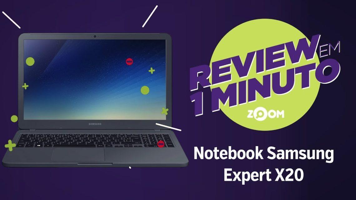 Notebook Samsung Expert X20 (Intel Core i5 8250U e 4GB de RAM) | REVIEW EM 1 MINUTO – ZOOM