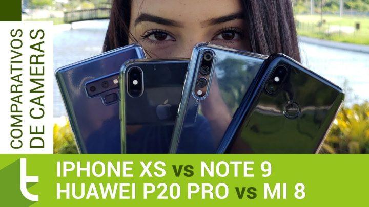 iPhone XS é o rei das câmeras contra Galaxy Note 9, Huawei P20 Pro e Xiaomi Mi 8