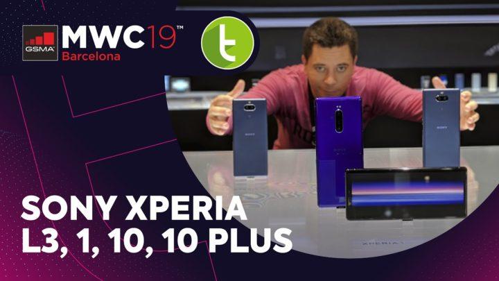 MWC19: Sony aposta na tela de cinema para Xperia 1, 10 e 10 Plus