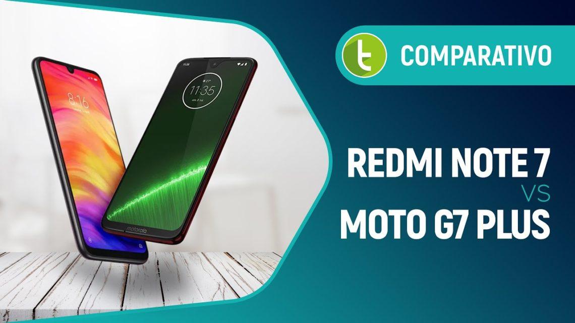 Redmi Note 7 ou Moto G7 Plus: qual intermediário é o melhor? | Comparativo